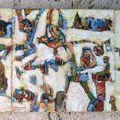 Todorče Atanasov: Brez naslova (triptih) - Slika (Olje na platno)