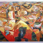 Todorče Atanasov: Brez naslova (diptih) - Slika (Olje na platno)