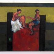 Todorče Atanasov: Brez naslova - Slika (Olje na platno)