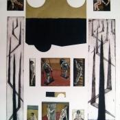 Todorče Atanasov: Dve sonci - Grafika (Barvna jedkanica in akvatinta)