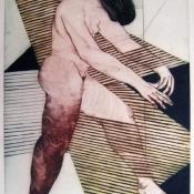 Todorče Atanasov: Sama II. - Grafika (Barvna suha igla)