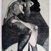 Todorče Atanasov: Sama III. - Grafika (Suha igla)
